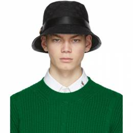 Gucci Black GG Supreme Bucket Hat 576587 4HG53