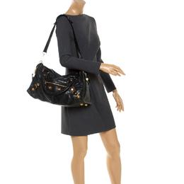 Balenciaga Black Leather GGH City Bag