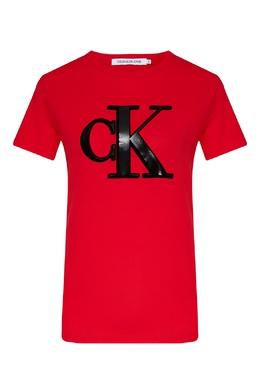 Красная футболка с крупным логотипом Calvin Klein 596169247