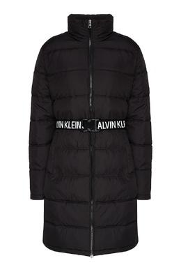 Пуховик с поясом и логотипами Calvin Klein 596169266