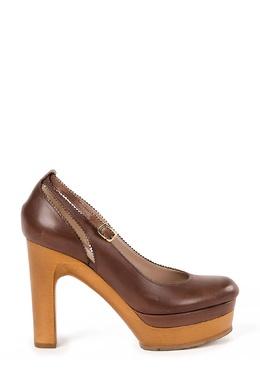 Коричневые кожаные туфли Chloe 360169294