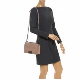 Chanel Beige Quilted Caviar Nubuck Medium Boy Flap Bag
