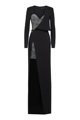Асимметричное комбинированное платье с декором Philipp Plein 1795169091