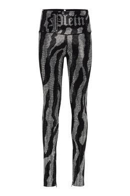 Черные облегающие брюки с декором Philipp Plein 1795169096