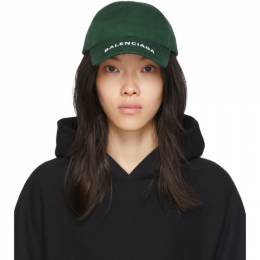 Balenciaga Green Logo Visor Cap 541400-310B2