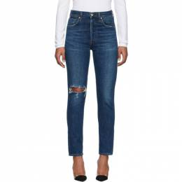 Citizens Of Humanity Blue Liya High-Rise Classic Jeans 1577E-692