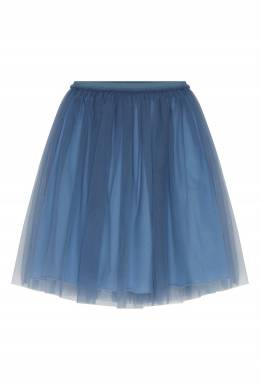 Голубая двуслойная юбка Il Gufo 1205170215