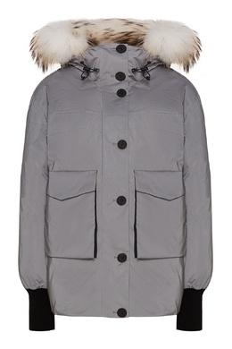 Белый стеганый пуховик с карманами Freedomday 1254166591