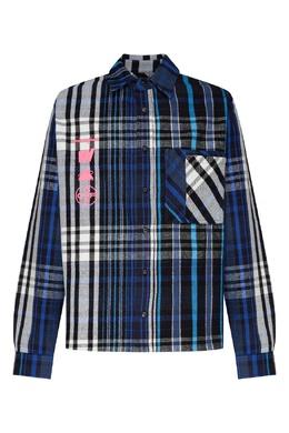 Синяя рубашка в клетку Off-White 2202166660