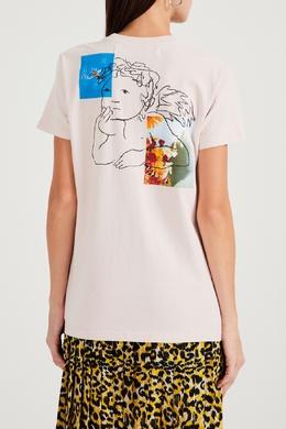 Хлопковая футболка с принтом Angel Off-White 2202166630