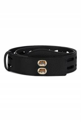 Широкий кожаный ремень черного цвета Net Furla 1962169908