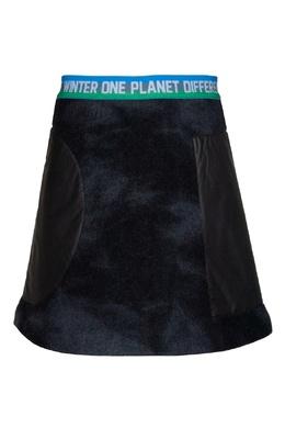 Темно-синяя юбка с черными вставками #MumOfSix 2642170831
