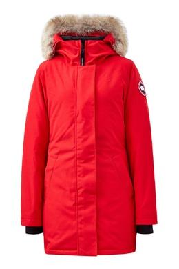 Красная парка с объемным капюшоном Canada Goose 2521170244