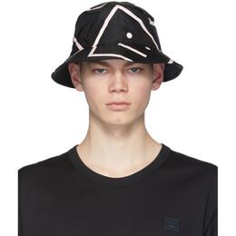 Acne Studios Black Buk Face Bucket Hat C40071-