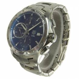 Tag Heuer Blue Stainless Steel Link Chrono Mens Automatic Watch CAT2015 Men's Wristwatch 43 MM