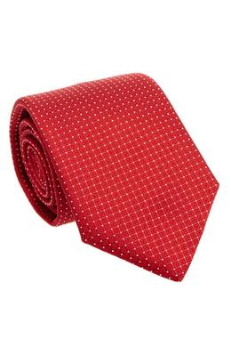 Красный галстук в мелкий горошек Canali 179387038