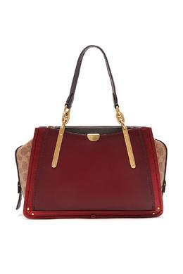 Красная сумка Dreamer с контрастными вставками Coach 2219172838