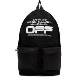 Off-White Black Wavy Logo Backpack OMNB003R20E480041001