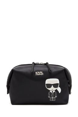 Черная косметичка с символом Ikonik Karl Lagerfeld 682173395