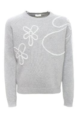 Серый джемпер с вышивкой Il Gufo 1205172759