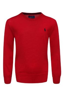 Красный шерстяной джемпер Ralph Lauren Kids 1252172747