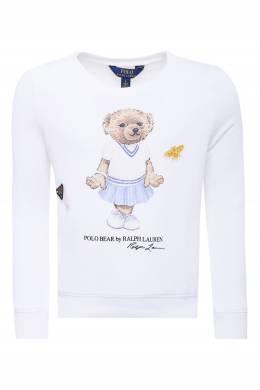 Белый свитшот с рисунком Ralph Lauren Kids 1252173308