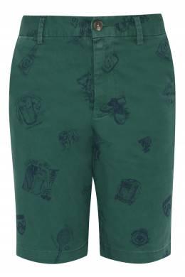 Зеленый шорты с узором Ralph Lauren Kids 1252173319