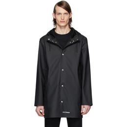 Stutterheim Black Stockholm Lightweight Raincoat 1828