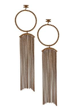 Золотистые серьги с цепями Elisabetta Franchi 1732173971