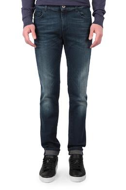 Серо-синие джинсы с выбеленными бедрами и коленями Trussardi Jeans 3074174329