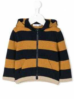 Knot striped zip-up hoodie CT21TH2342