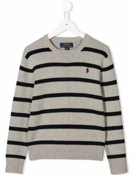 Polo Ralph Lauren джемпер в полоску с логотипом 323758343