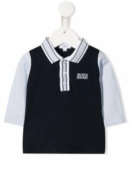 Boss Kids двухцветная рубашка-поло J95273849