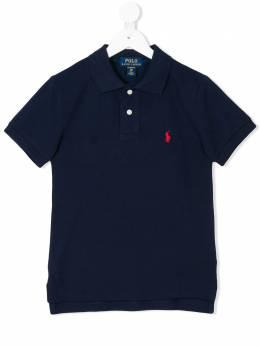 Ralph Lauren Kids рубашка-поло с вышитым логотипом 547926004