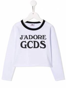 GCDS Kids топ с длинными рукавами и логотипом 020523