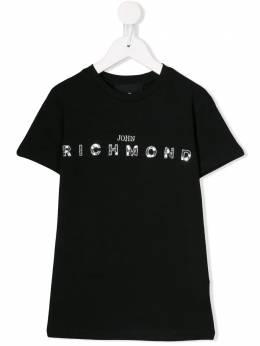 John Richmond Junior футболка с логотипом и пайетками RGA19087TSNA