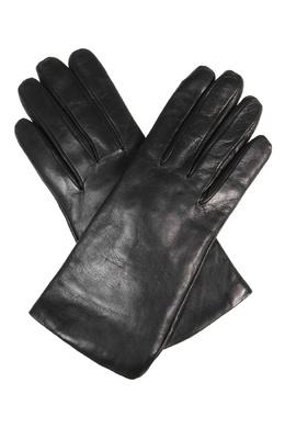 Черные перчатки из кожи Sermoneta Gloves 2352175169