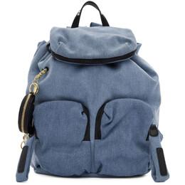 See By Chloe Blue Denim Joy Rider Backpack CHS19US840604