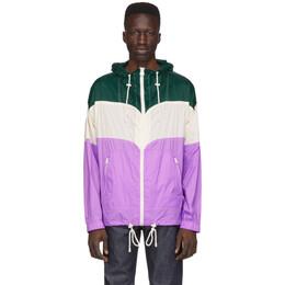 Isabel Marant Green and Purple Kyrieh Sporty Raincoat 20PMA0524-20P001V