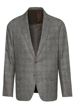 Серый шерстяной костюм в клетку Lardini 2453175082