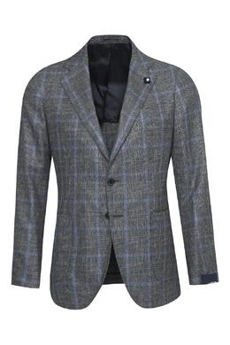 Серый шерстяной костюм-тройка Lardini 2453175087