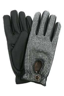 Перчатки из кожи и трикотажа Lardini 2453175117