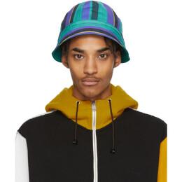 Marni Multicolor Striped Poplin Bucket Hat CLZC0037BQ S52538