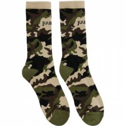 Juun.J Four-Pack Camo and Colorblock Socks JC028ZP005