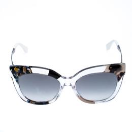 Fendi Clear Jungle/Dark Gradient FF 0179/S Cateye Sunglasses