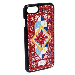Dolce&Gabbana Multicolor Majolica Print Coated Canvas iPhone 7 Case