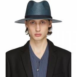 Giorgio Armani Blue Straw Hat 747359 0P500 01339