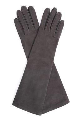 Серые замшевые перчатки Sermoneta Gloves 2352176243