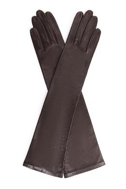 Коричневые перчатки длиной до локтя Sermoneta Gloves 2352176240