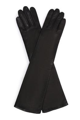 Длинные перчатки из черной кожи Sermoneta Gloves 2352176229